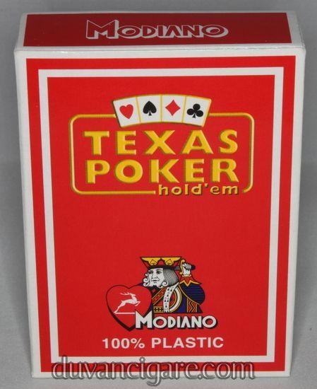 Karte Modiano Teksas poker 100% plastične crvene