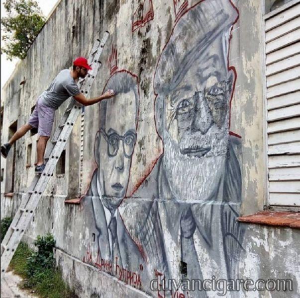 Dva Nobelovca Havana Kuba