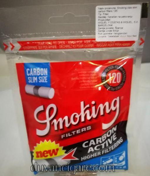 Filtercici za motanje Smoking slim karbon