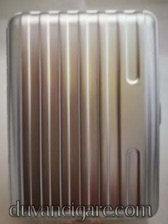 Tabakera srebrna linija uska