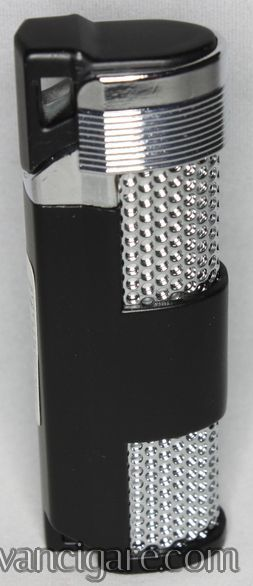 Upaljač crno srebrni