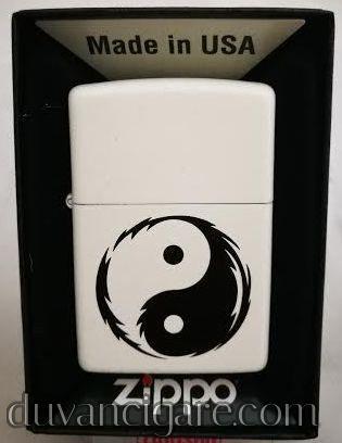 Zippo upaljac beli jin-jang