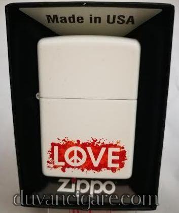 Zippo upaljac love beli